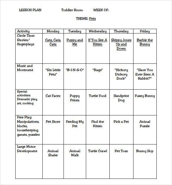 Simple Preschool Lesson Plan Template Pin On Preschool Activities