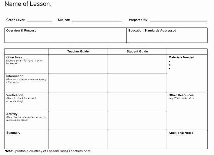 Simple Teacher Lesson Plan Template School Age Lesson Plans Template Best 12 School Age