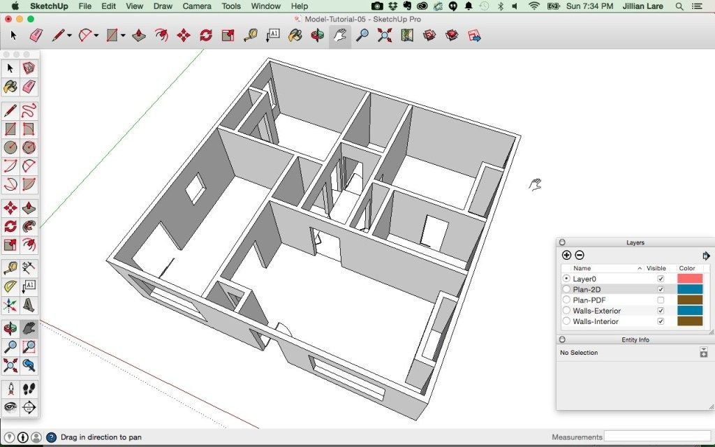 Sketchup Floor Plan Template Draw A 3d House Model In Sketchup From A Floor Plan