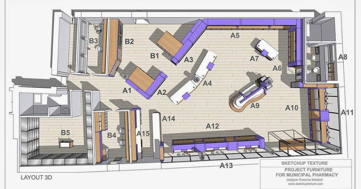 Sketchup Floor Plan Template Free Sketchup 3d Model Modern Pharmacy How to Design A