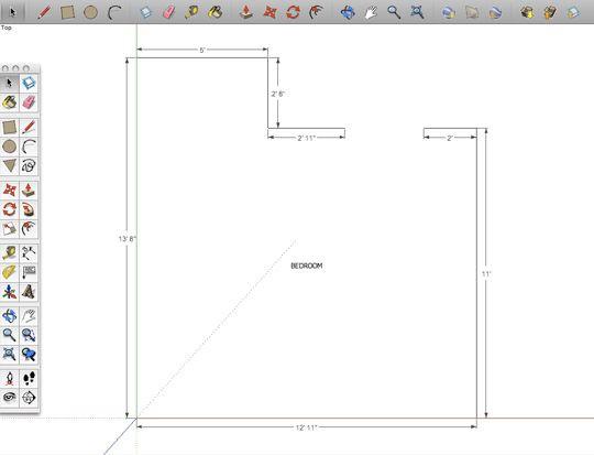 Sketchup Floor Plan Template How to Make A Digital Floorplan with Sketchup