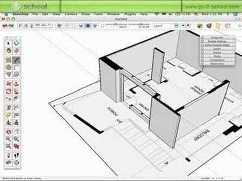 Sketchup Floor Plan Template Model A House In Sketchup Pt 2
