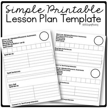 Small Group Planning Template Lesson Plan Template for Small Group Reading and