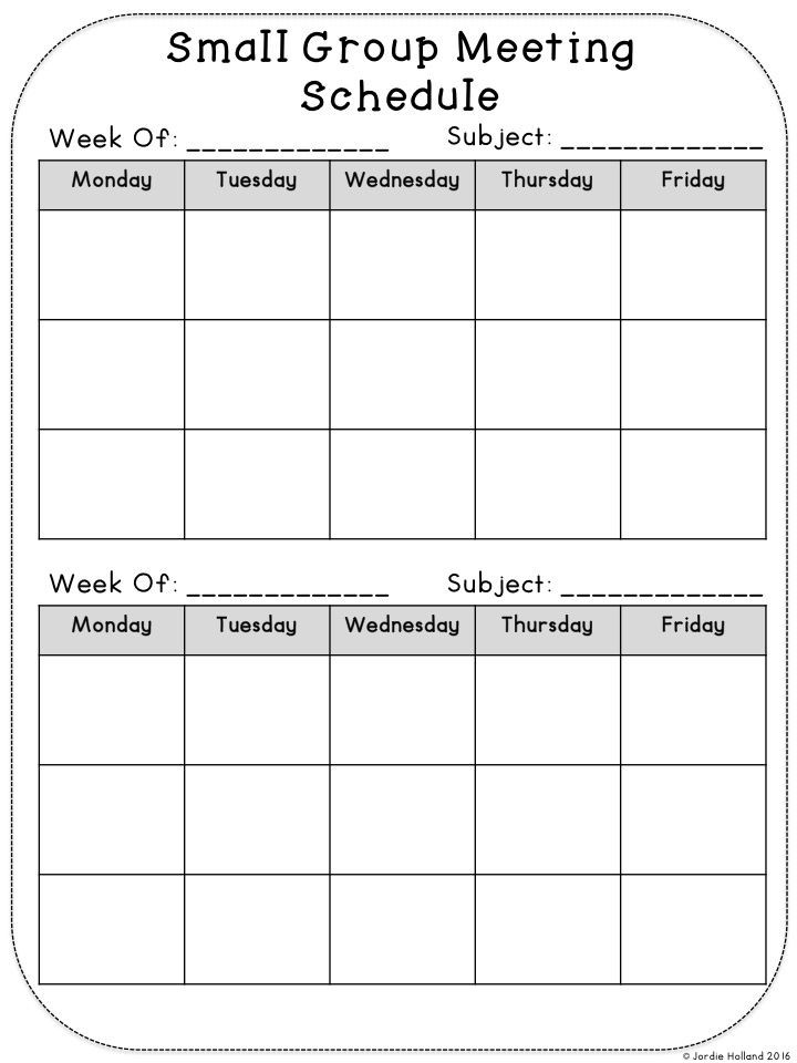 Small Group Planning Template Small Group Planning Sheets for All Subjects