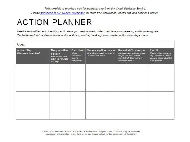 Smart Action Plan Template Excel 10 Effective Action Plan Templates You Can Use now