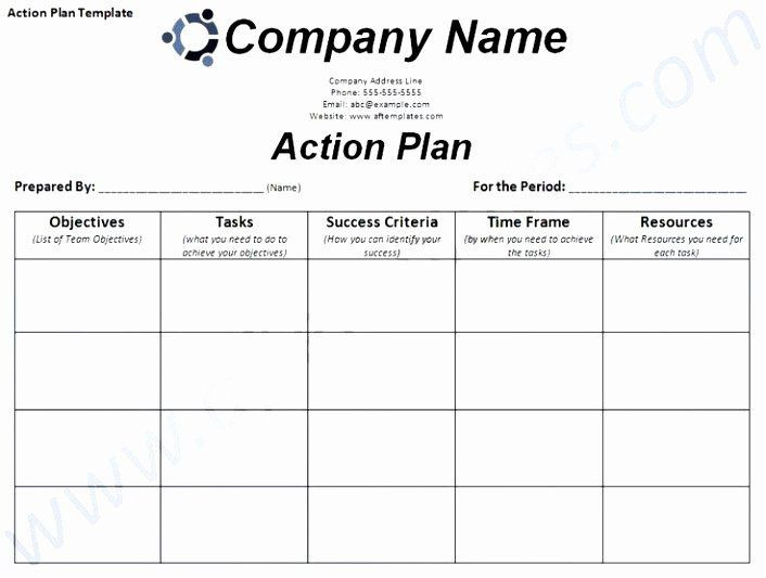 Smart Action Plan Template Excel Smart Action Plan Template Beautiful 6 Smart Action Plan