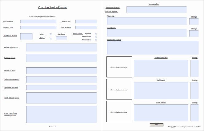 Soccer Session Plan Template Blank Football Practice Plan Template Elegant Interactive