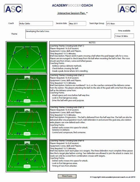 """Soccer Session Plan Template soccer Practice Plan Template New Search Results for """"free"""