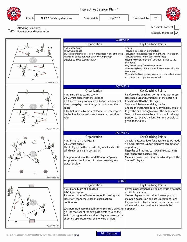 Soccer Training Session Plan Template Football Practice Plan Template Excel Luxury Pin by Nivla