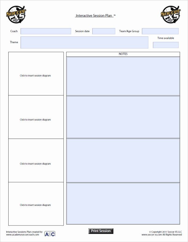 Soccer Training Session Plan Template soccer Session Plan Template Luxury 26 Blank soccer