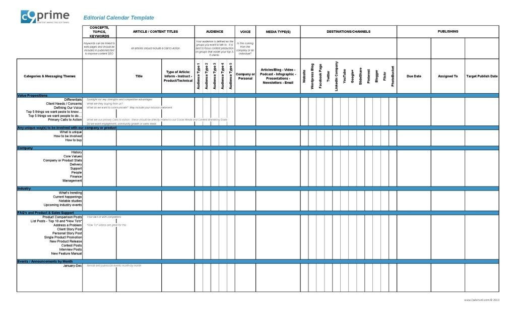 Social Media Content Planner Template Pin On Template