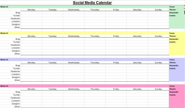 Social Media Content Planner Template Pin On to Be social Work