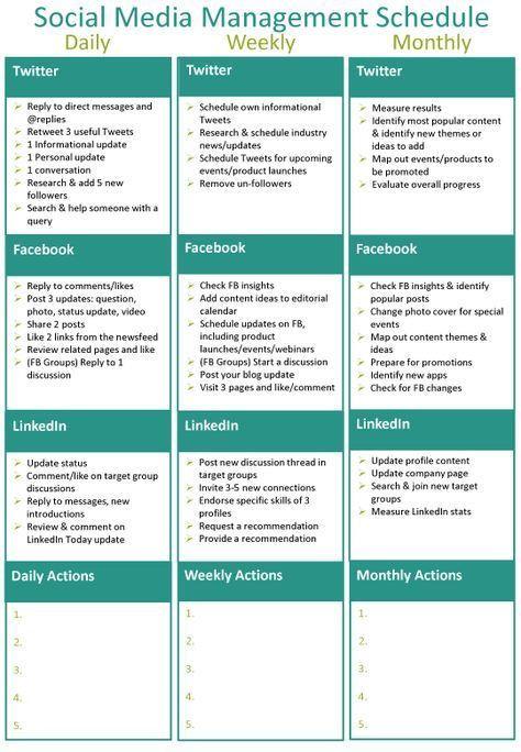 Social Media Content Planner Template S social Media Strategy Template social