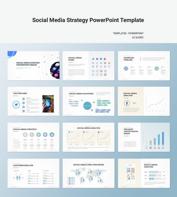 Social Media Strategy Plan Template social Media Strategy Powerpoint Template Creativityforest