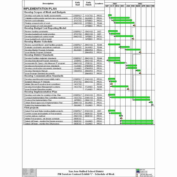 Software Implementation Plan Template Excel Deployment Plan Project Management New Learn How to Develop