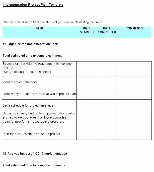 Software Implementation Plan Template Excel Implementation Plan Template Excel Fresh Erp Implementation