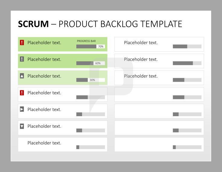 Sprint Planning Template Scrum Product Management the Product Backlog Template for