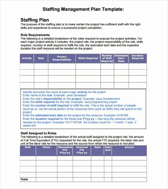 Staffing Plan Template Excel Project Staffing Plan Template Excel Luxury 7 Staffing Model