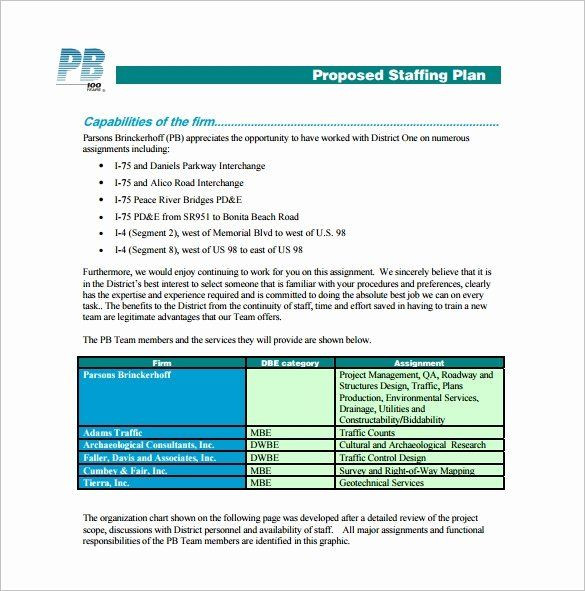 Staffing Plan Template Excel Project Staffing Plan Template Excel Unique 12 Staffing Plan