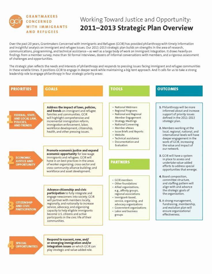 Strategic Plan for Nonprofits Template Strategic Plan Template Nonprofit Elegant Executive