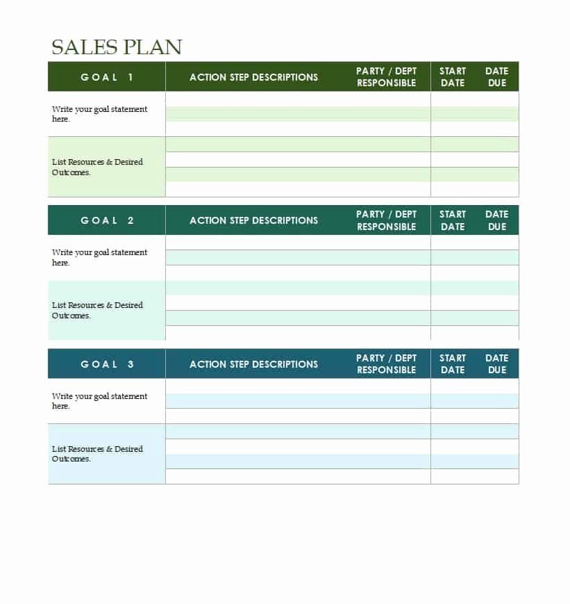 Strategic Plan Template Excel Free Strategic Plan Template Inspirational 32 Sales Plan