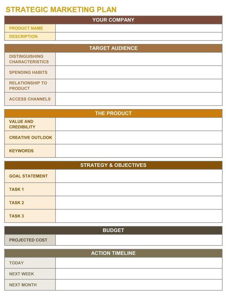 Strategic Plan Template Excel Strategischer Marketingplan Excel Vorlage
