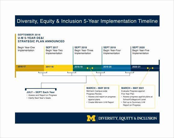 Strategic Plan Timeline Template 5 Year Strategic Plan Template Beautiful 9 Business Timeline