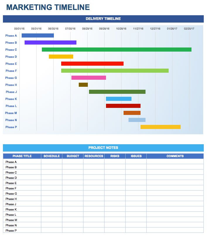 Strategic Plan Timeline Template Simple Colourful Marketing Templates