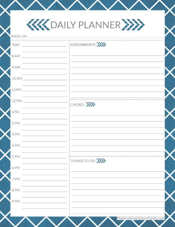 Student Planner Template Free Printable Free Printable Homeschool Planner Worksheet for High School