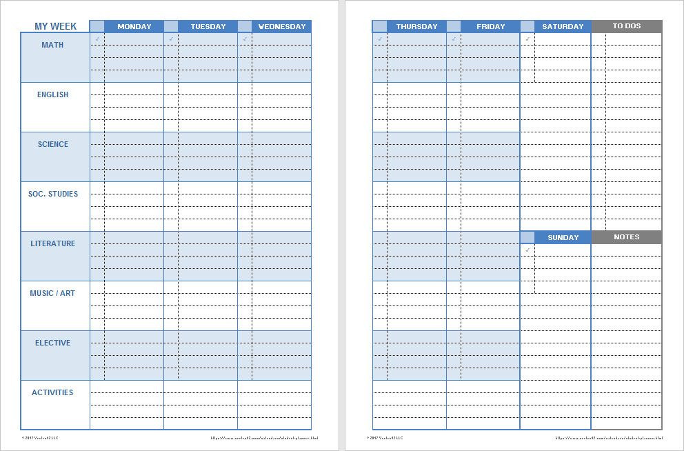 Student Planner Template Free Printable Student Planner Template Free Printable Elegant Download A