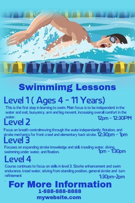 Swim Lesson Plan Template √ 30 Swim Lesson Plan Template In 2020