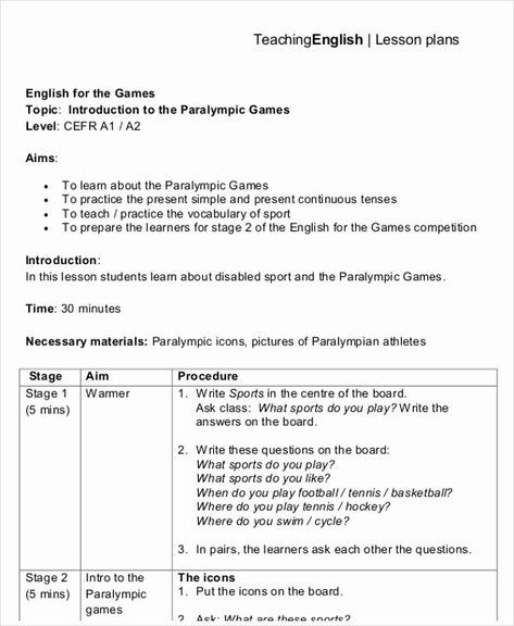 Swim Lesson Plan Template Esl Lesson Plan Template Fresh 47 Lesson Plan Templates In