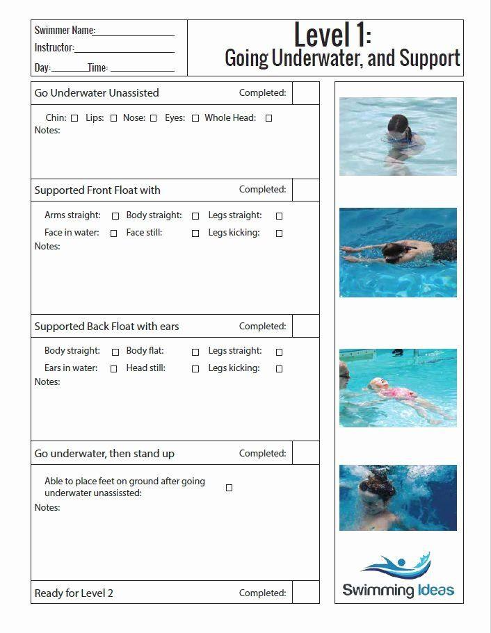 Swim Lesson Plan Template Swim Lesson Plan Template Elegant 13 Best Uswim Lesson Plans