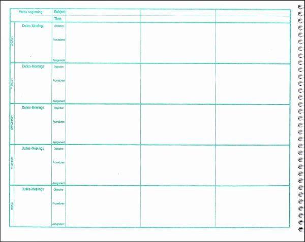 Teacher Plan Book Template Teachers Planning Book Template Inspirational Free Lesson