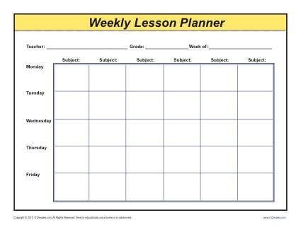 Teacher Plan Book Template Weekly Detailed Multi Class Lesson Plan Template