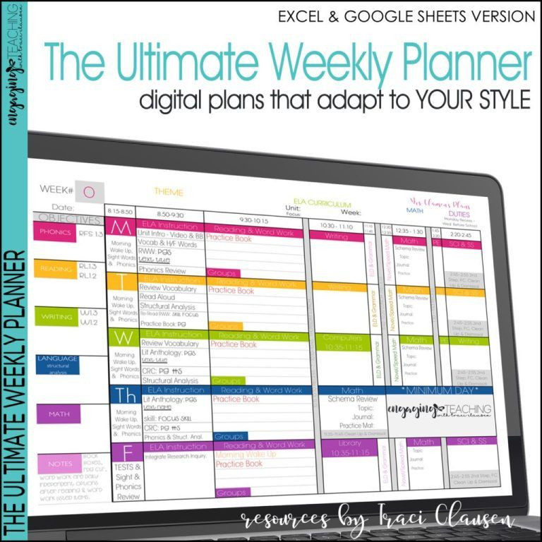 Teacher Weekly Planner Template How to Customize Your Teacher Planner
