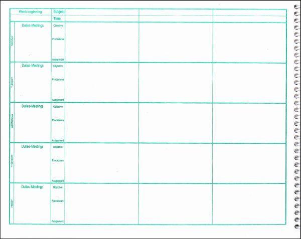Teachers Plan Book Template Pin On Lesson Plans