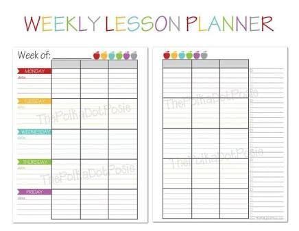 Teachers Planner Template Resultado De Imagen De Teachers Weekly Planner Template