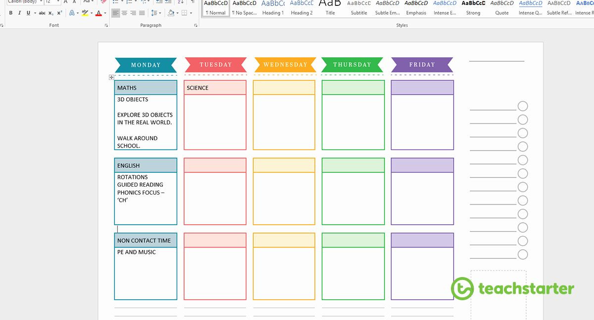 Teachers Planner Template Teacher Planning Book Template New Create Your Own Teacher
