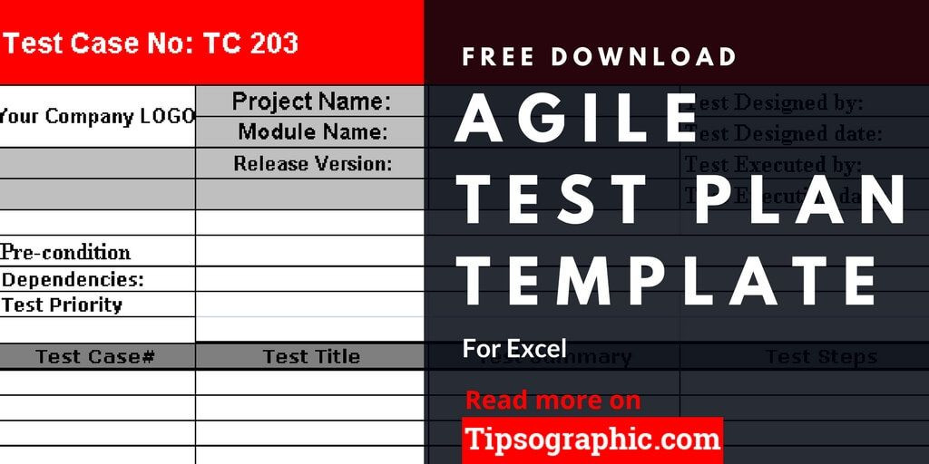 Test Plan Template Excel Pin On Agile Project Management