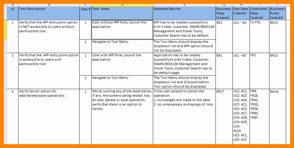 Test Plan Template Excel Pin On Business Plan Template for Startups
