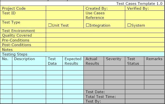 Test Plan Template Excel Pin On Test Planning and Methodology