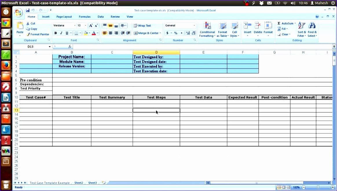 Test Plan Template Excel Test Plan Template Word Lovely 12 Test Cases Excel Template