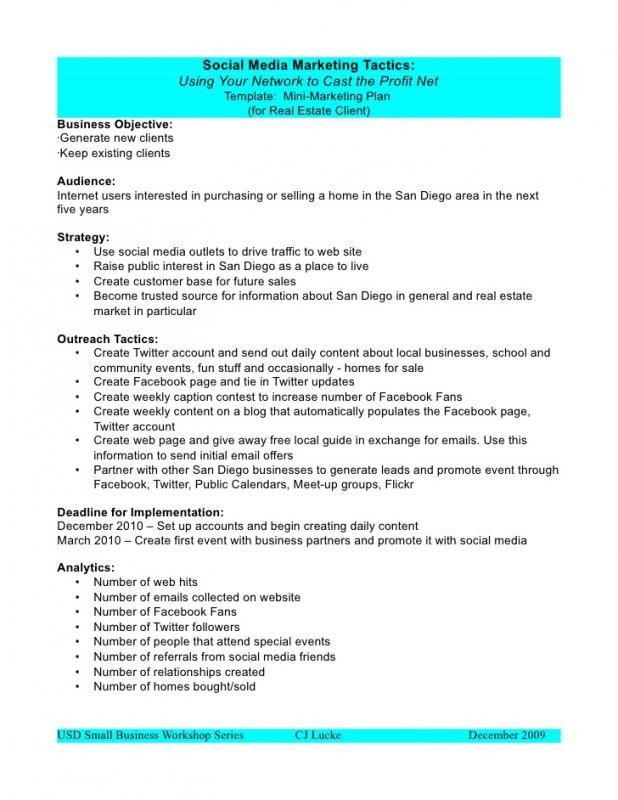 Thrift Store Business Plan Template social Media Marketing Proposal Check More at S