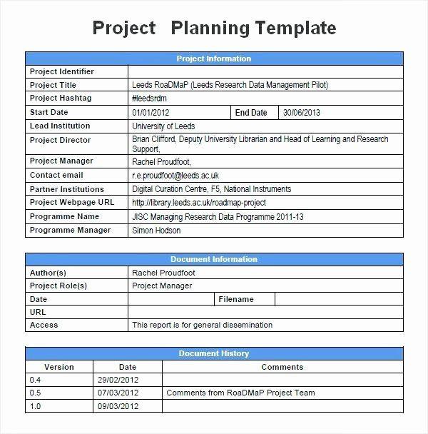 Time Management Plan Template Pilot Project Plan Template Elegant Munication Planning