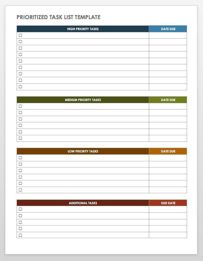Time Management Plan Template Smartsheet 28 Free Time Management Worksheets Smartsheet