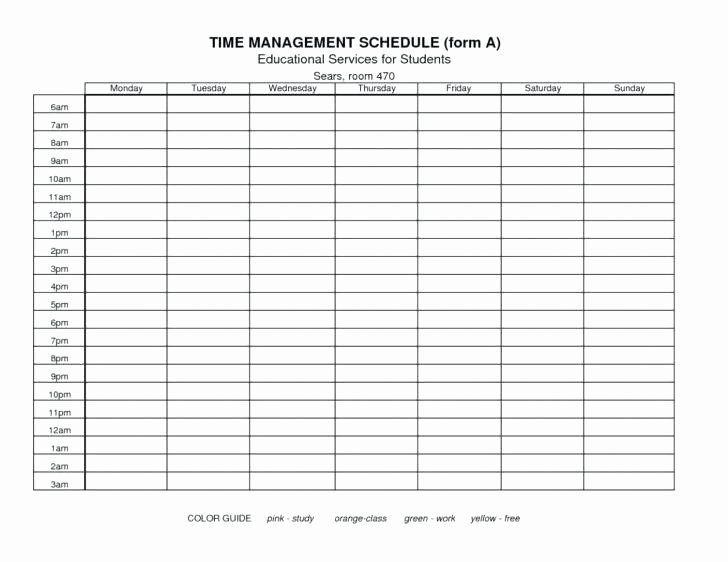 Time Management Plan Template Time Management Plan Template Beautiful Time Management