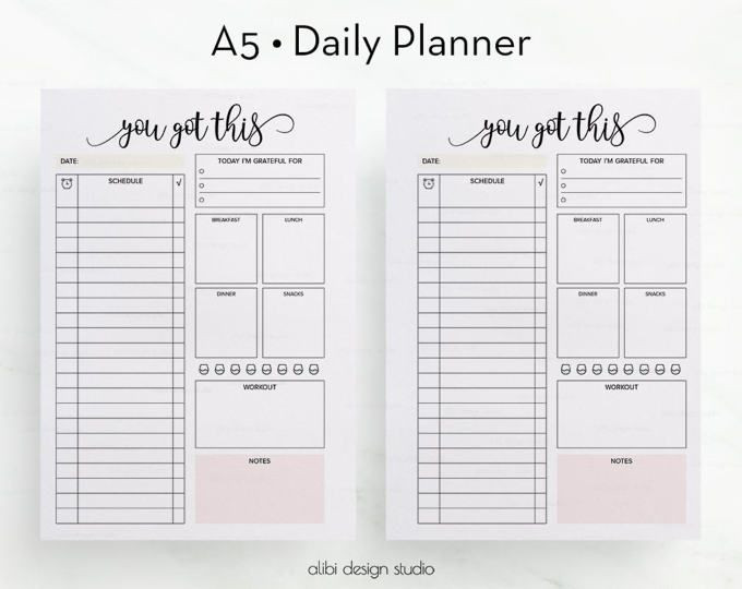 To Do List Planner Template Daily Planner Printable Daily to Do List Planner Insert
