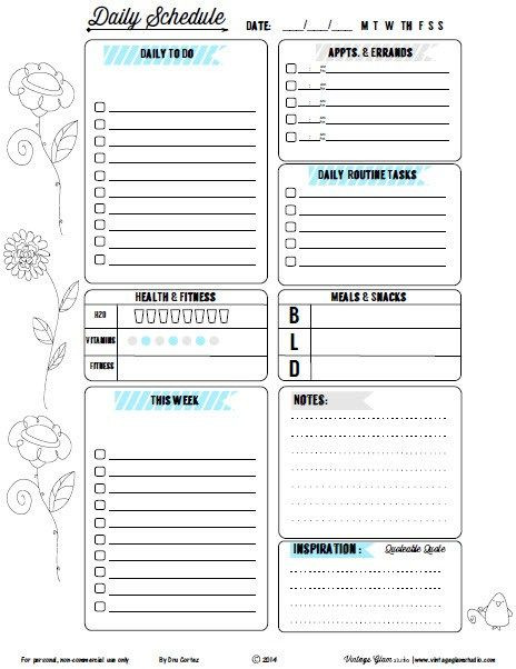 To Do List Planner Template Doodled Floral Daily to Do List Ii Free Planner Printable