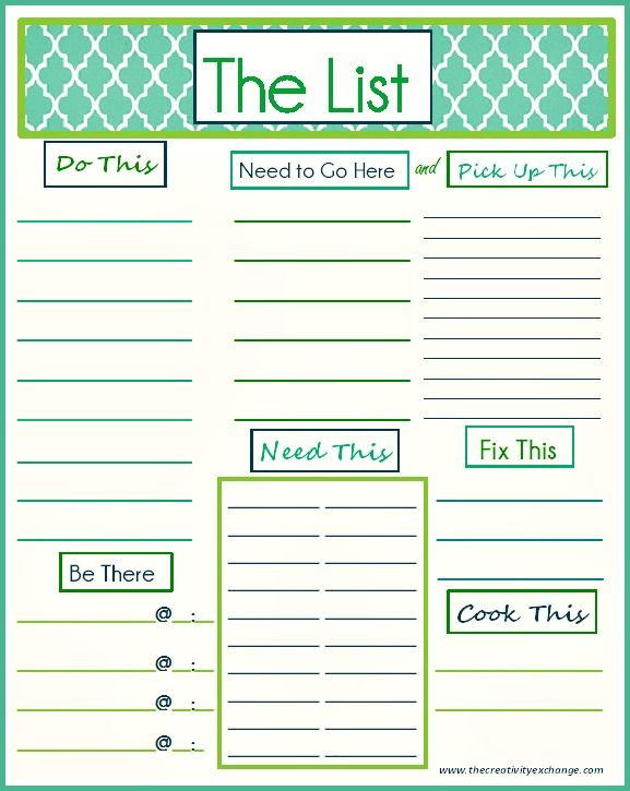 "To Do List Planner Template Free Printable ""to Do"" List"